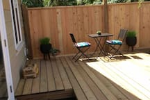 Great out door patio space very private and the perfect spot for your morning coffee or afternoon tea