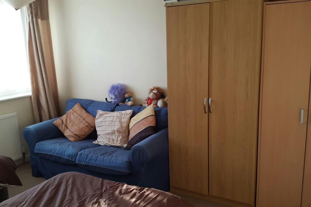 Own two seater sofa 2 wardrobes