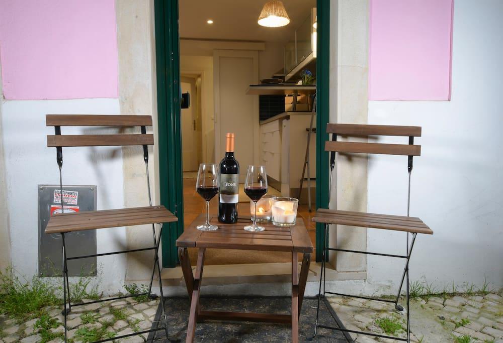 Drink some wine, enjoying the neighborhood and the good weather!