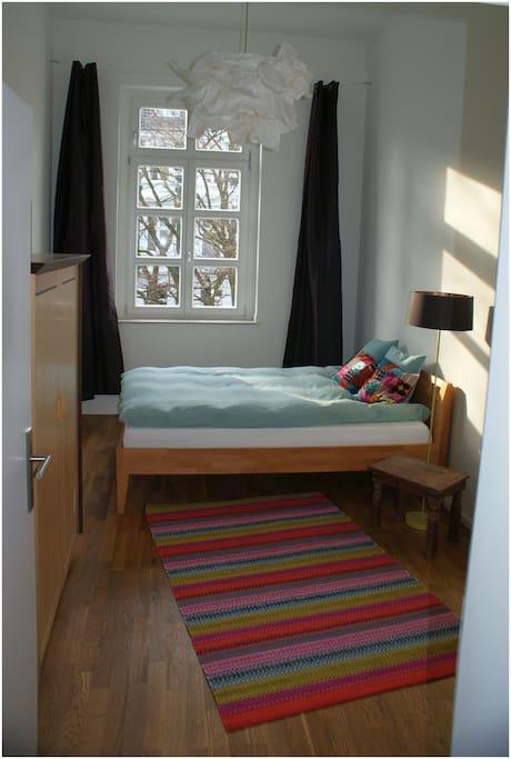Gästezimmer mit Kirchblick