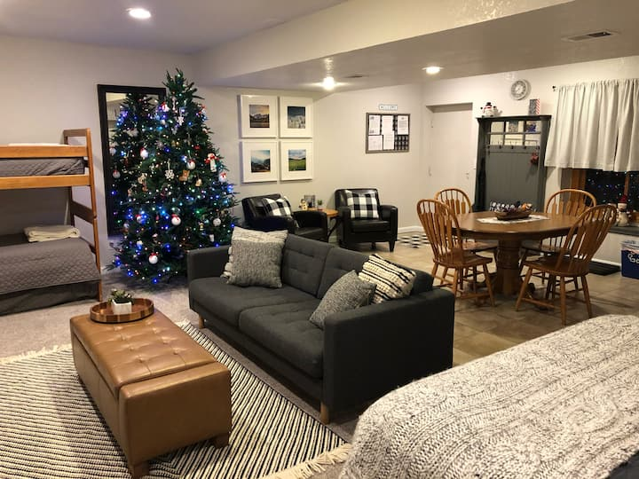 A Cozy Basement; A Great Base Camp for Adventures