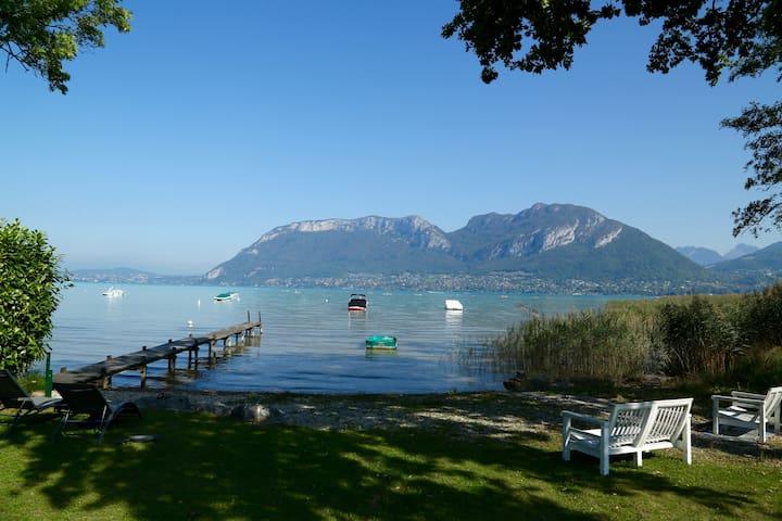 Grand studio avec jardin au bord du lac - Sévrier
