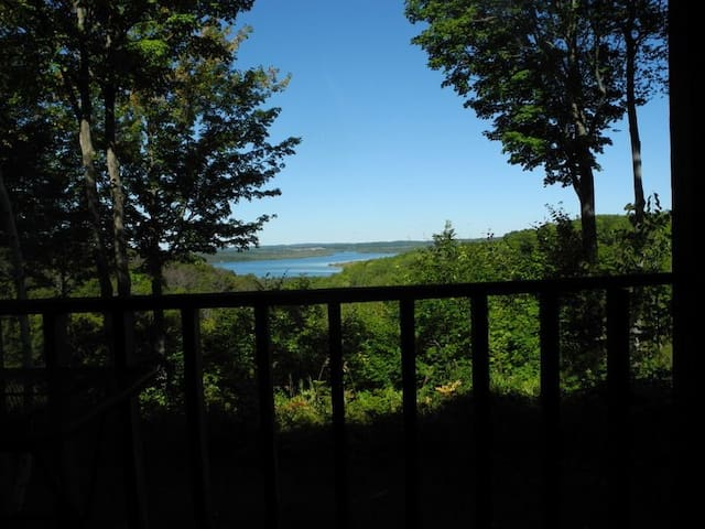 Snowshoe Condo with a great view of Lake Bellaire!