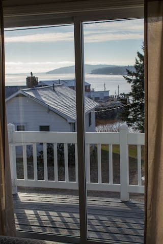 The master suite's private balcony is an excellent place to start your day