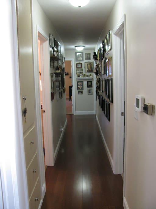 Hallway to your room.