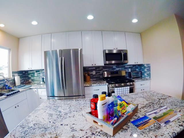 Brand new kitchen with top of the line Samsung appliances