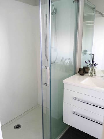Your own separate bathroom with powerful shower