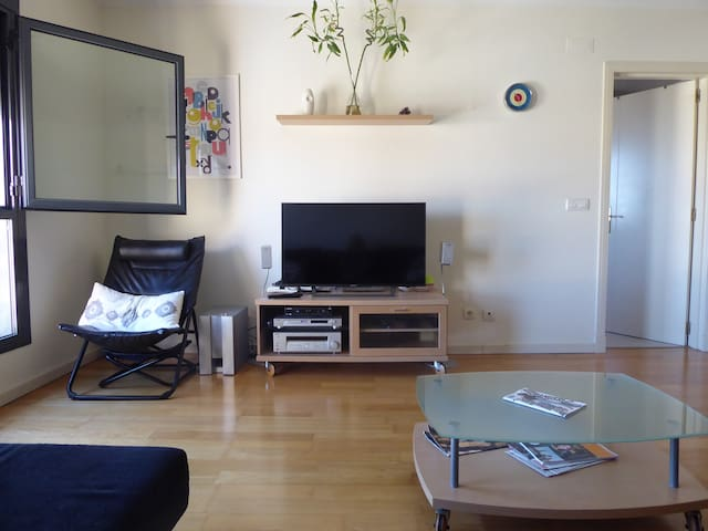 """Living room: 43"""" Flat screen with 200+ plus channels and Netflix"""