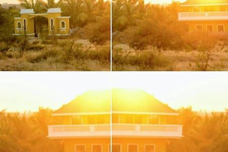 Villa + Campsite + Trailer park
