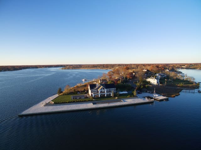 Private, Gated, Waterfront Home on Peninsula - Moriches