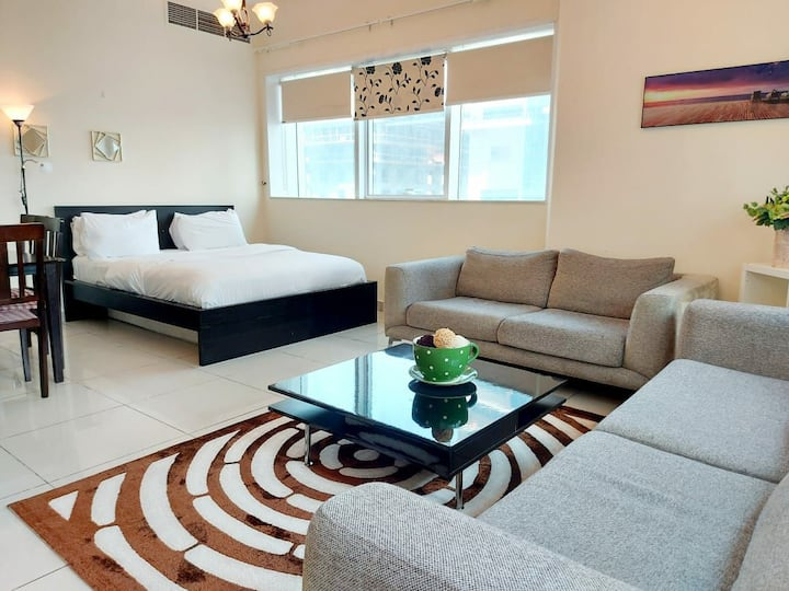 Spacious & well equipped marina view room