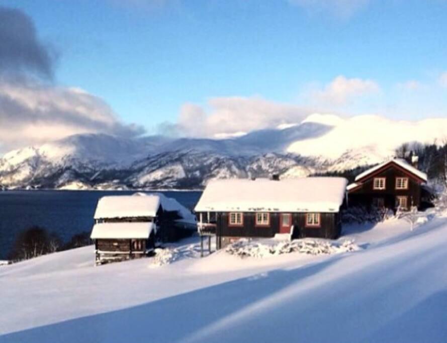 Vinter på Rofshus. Wintertime.