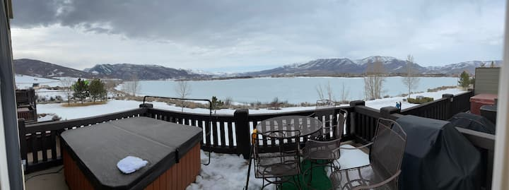 Lux Lakeside Condo, overlooking Pineview Lake