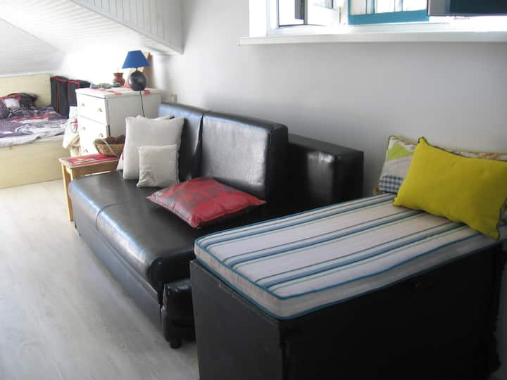 Lovely rooftop apartment near NDK