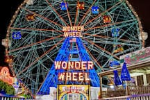 Get the best view of Brooklyn and the New York City skyline from Deno's Wonder Wheel.