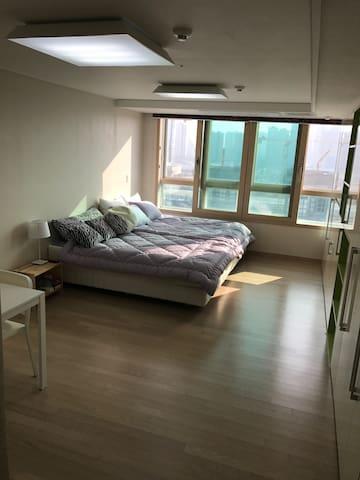 송도국제도시 캠퍼스타운역 1분거리 최대 4인 숙박 가능 - 인천 - Appartamento