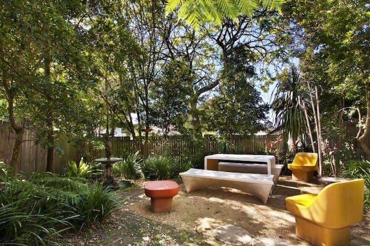 Private garden apartment