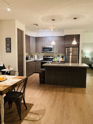 This is the kitchen. You can use any appliance you would like