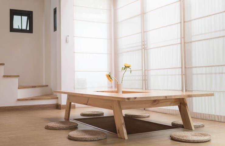 【木子】长租优惠 !清迈唯一全新日式别墅 榻榻米落地窗 绿荫环绕