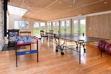 Our New huge Games/Function Room!  Play Ping Pong, Snooker, Foosball, Cards and watch flat screen TV
