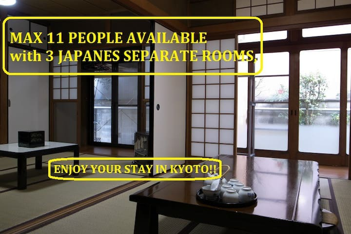 max10,15min from Kyoto sta.,wholehouse rent,3br