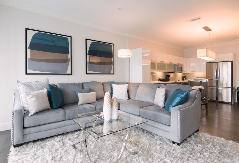 luxury sectional comfy