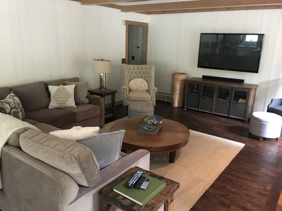 Family room with Apple TV