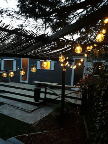 Mooie Veluwe lodge op het vakantiepark Lierderholt