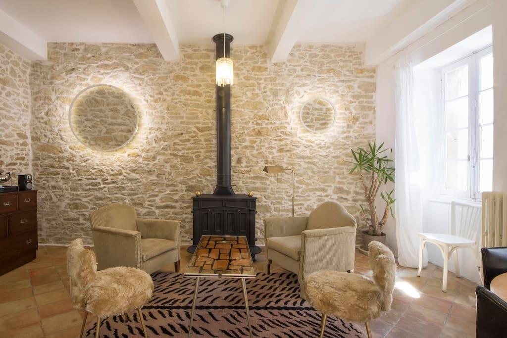 Salon, lounge area inside