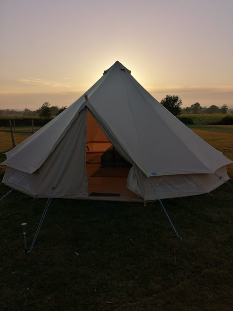 The Bell Tent in the Normandy countryside