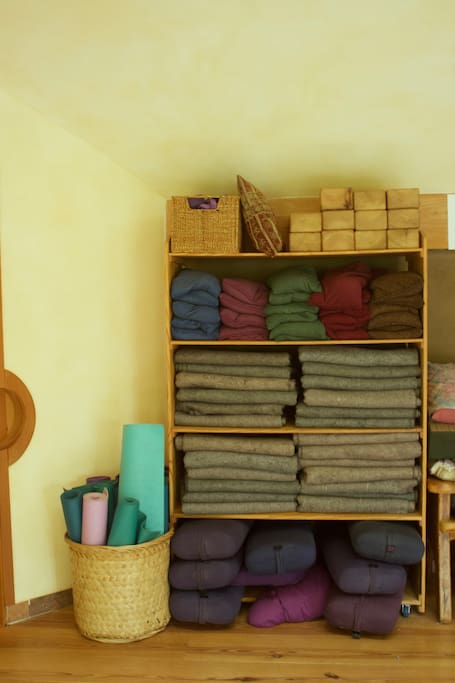 fully equipped yoga studio