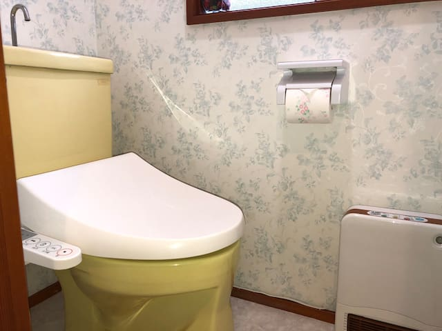 Toilet on the second floor