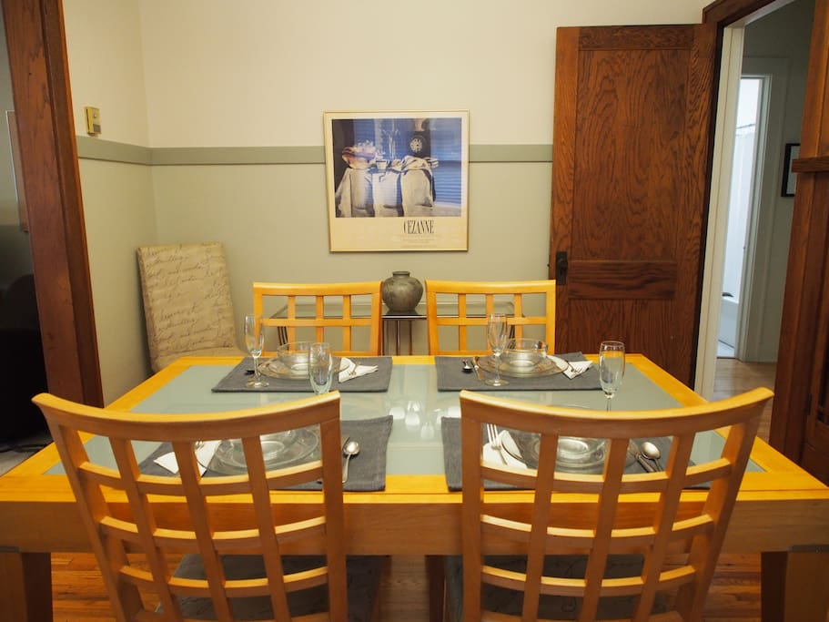 Dining room with expanding table.