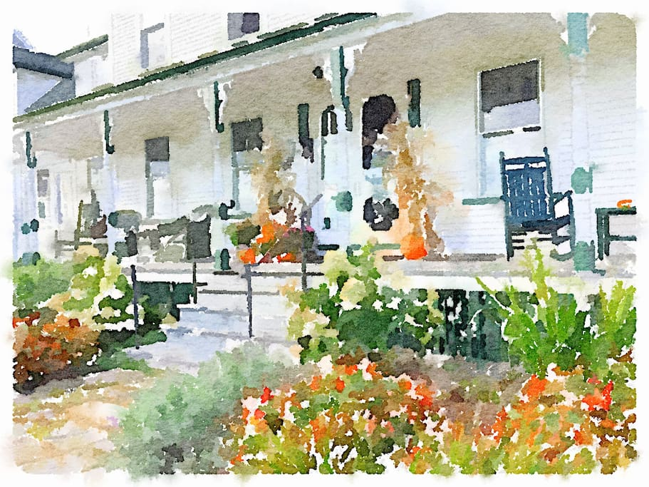Porch in Watercolors