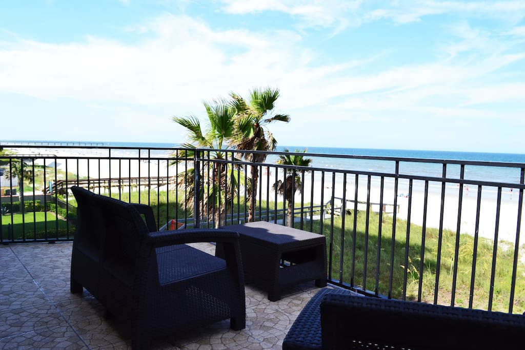 The view from one of the balconies -- dunes, sea, and sky! - 3 separate balconies, including a panoramic 3rd-floor vista. Wake up each morning to splendid sunrises and sweeping beach views!