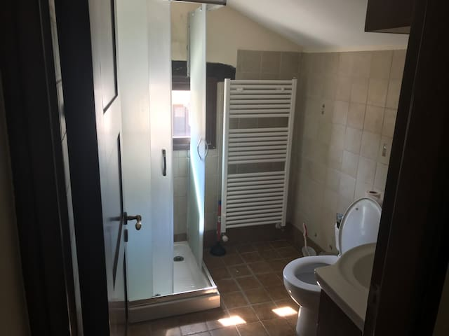 Shower and toilet on first floor