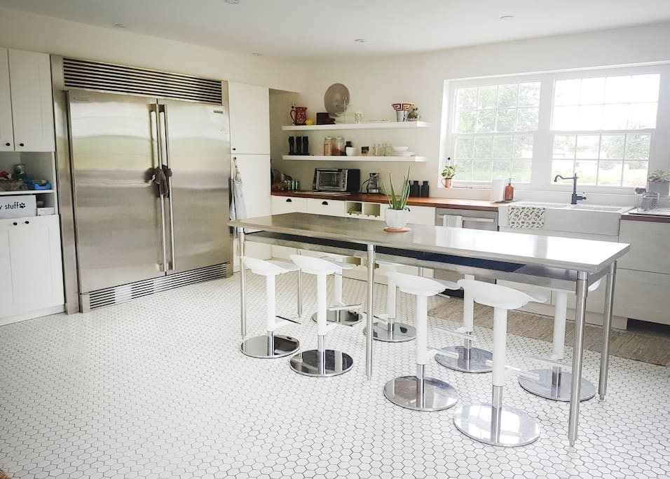 Oversized refrigerator with a kitchen to match