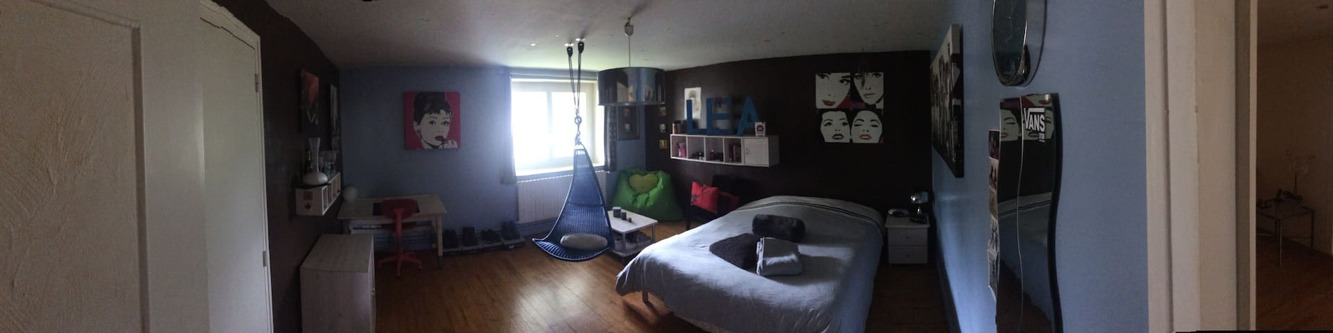 EURO 2016 Chambre pour 2 personnes - Saint-Pierre-de-Chandieu - Bed & Breakfast