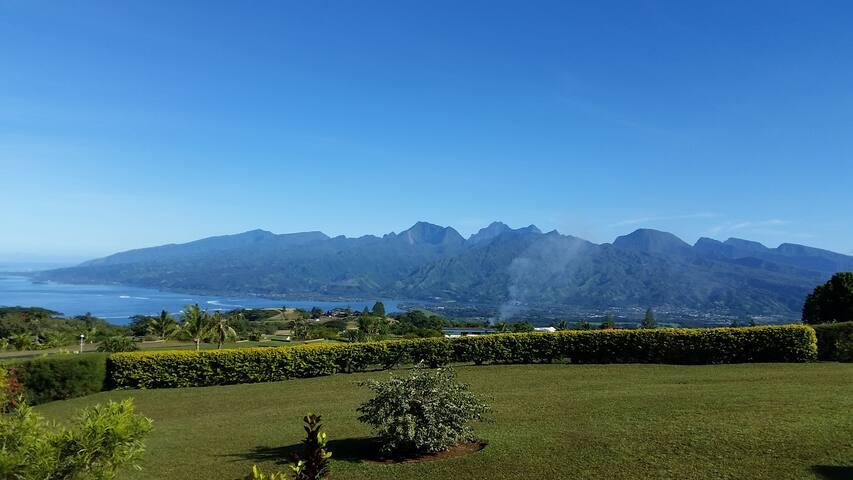 Tahiti -  La presqu'île - Rainbow welcome