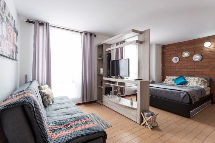 Dalia's loft cuatro huéspedes excelente ubicación.