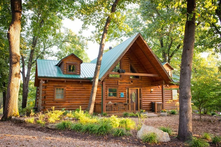 Beautiful Pet Friendly Branson Bear Cabin- private hot tub!