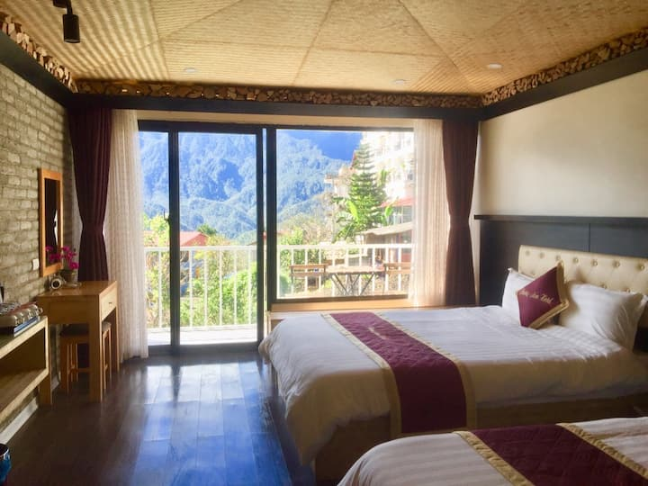 Two Double Beds with Mountain Views_1 (Phuong Nam)