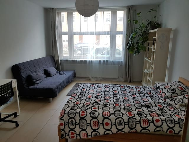 Spacious room in a shared flat close to center
