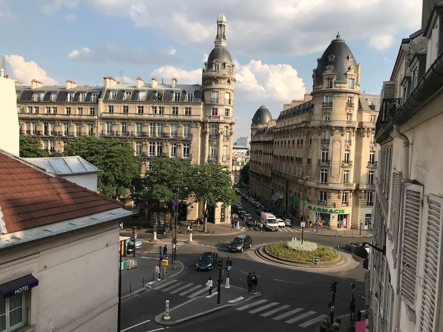 Great view of Paris from the balconies