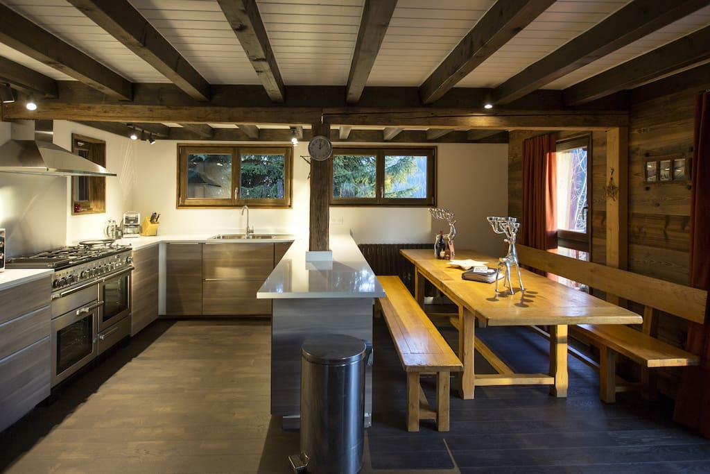 Large Convivial Kitchen and dining area