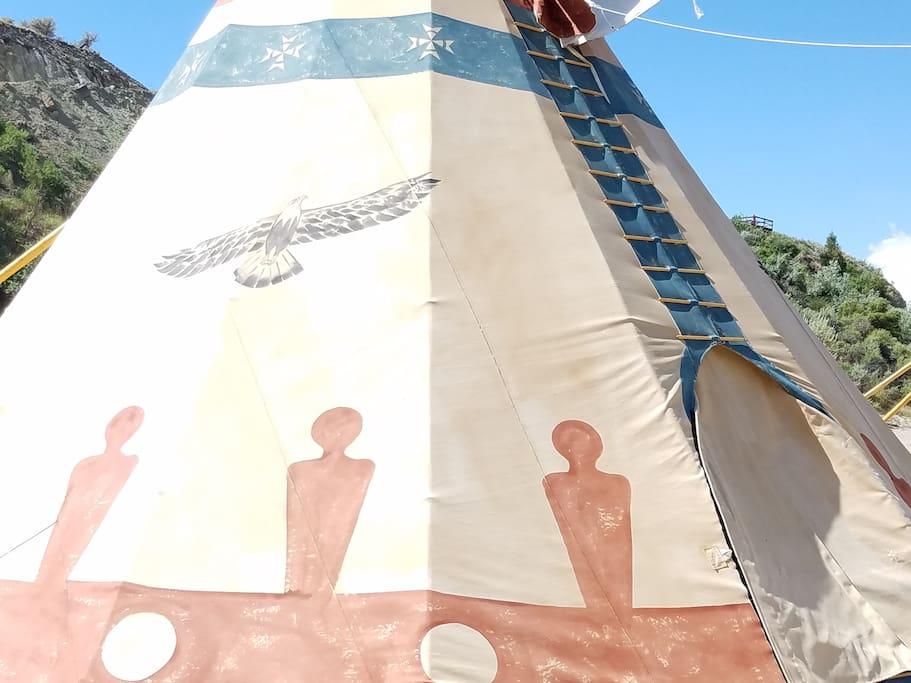 Eagle Tipi close up