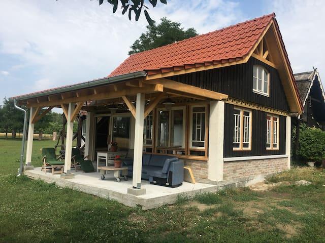 View on the new veranda.