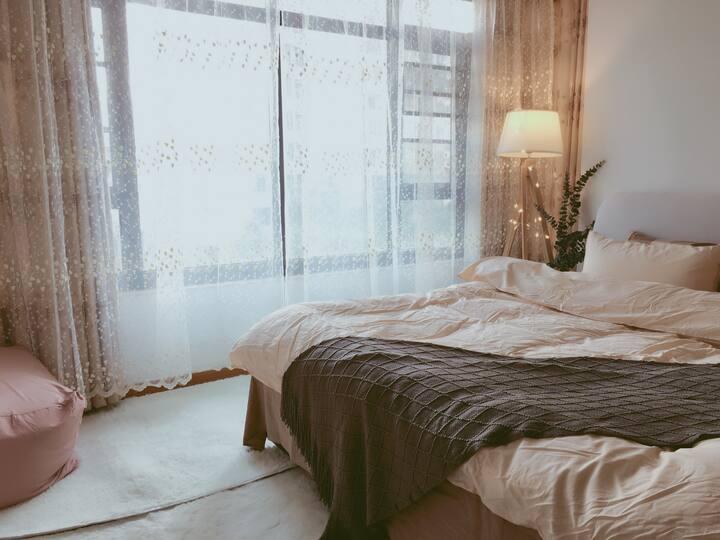 馨园01佛山祖庙 岭南新天地 日式清新风格客厅 ins慵懒风格卧室