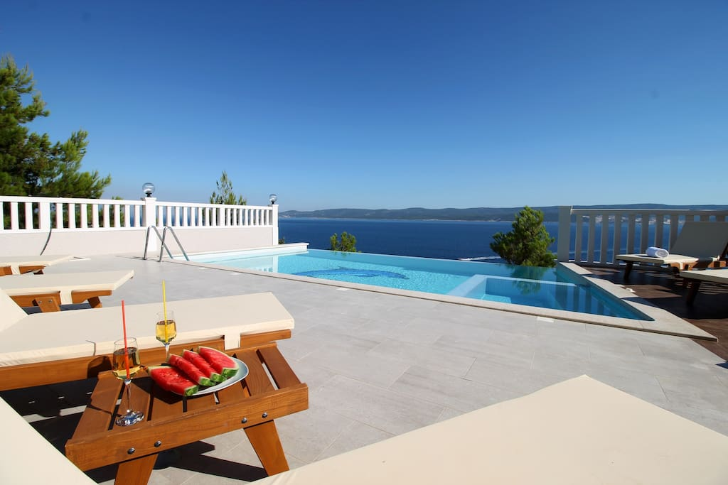 VILLA MIRNA - amazing sea and island view from pool area