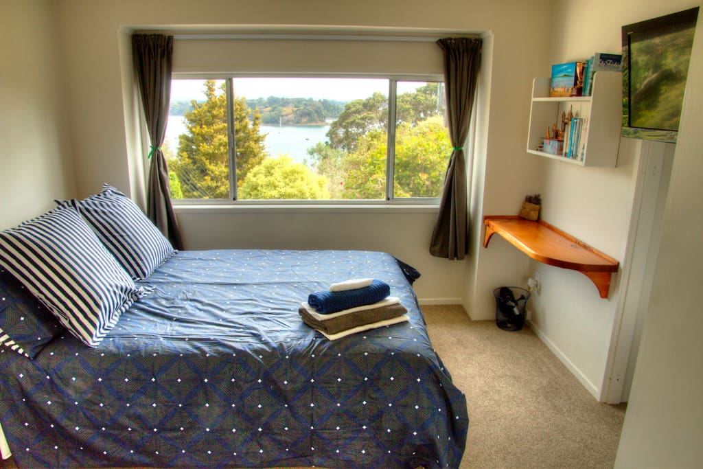 The bedroom and its view